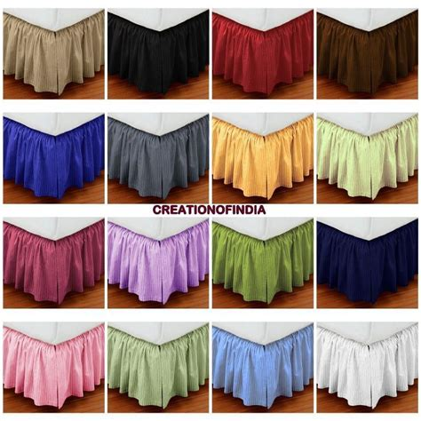 full size bed skirt christmas sale extra drop full size dust ruffle bed skirt striped egypt cotton ebay