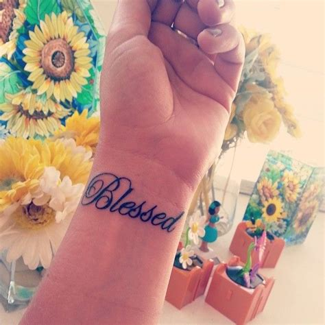 blessed wrist tattoos 30 spiritual truly blessed designs holy symbols