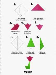 Easy Origami Flower Step By Step - how to make an origami tulip step by step tutorial
