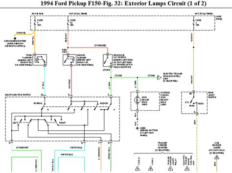 troubleshooting trailer lights turn signal 1994 ford f 150 turn signal switch wiring diagram 49