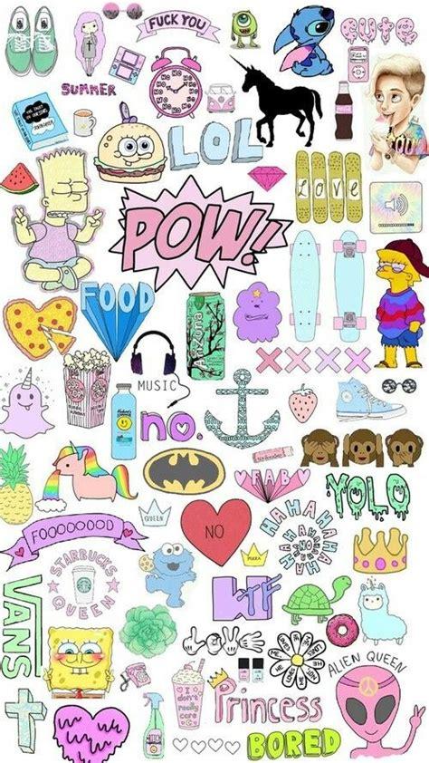 emoji collage wallpaper collage emojis tumblr fondos wallpaper