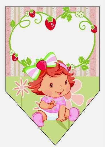 strawberry shortcake printable birthday banner strawberry shortcake baby party free printable