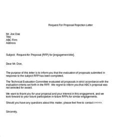 Rejection Letter For Rfp Free Sle 8 Rejection Letter Templates 7 Free Word Pdf