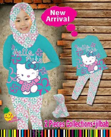 Kaos Anak Hello Pelangi 5 Tahun Kaos Anak Karakter Perempuan jual setelan baju muslim anak perempuan hello biru