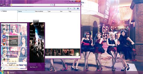 download themes kpop my kpop fanatik snsd paparazzi win 7 theme download