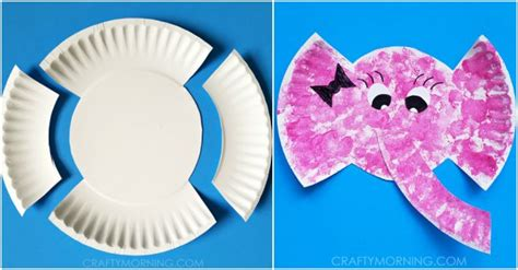 Elephant Paper Craft - paper plate elephant craft for how to