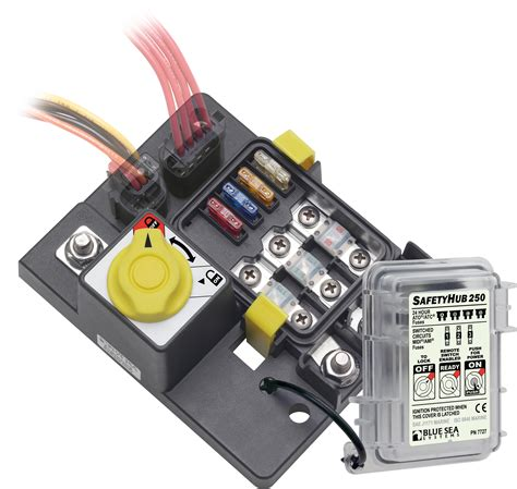 boat fuse block safetyhub 250 fuse block and solenoid with manual control