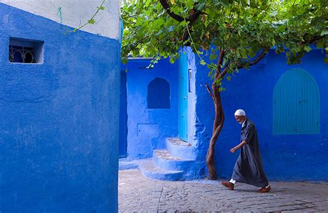 the blue city morocco the old town walls of this moroccan city are covered in