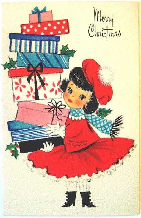 hallmark vintage card merry christmas