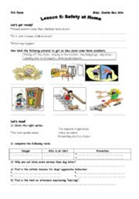 safety at home worksheets