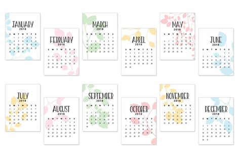 printable calendar cards 2018 calendar journal cards love paper crafts