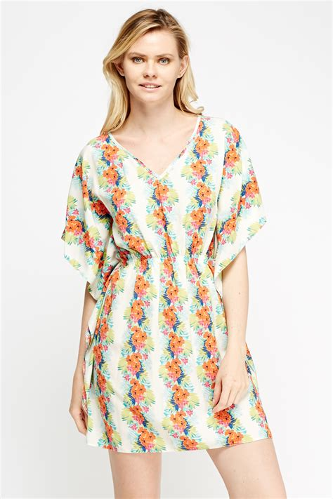 Set Floral Cover Up Dress floral print cover up dress navy multi or white