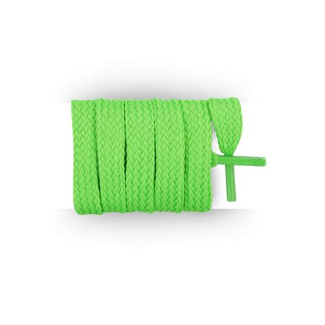 buy flat and laces neon green 110 cm mylaces