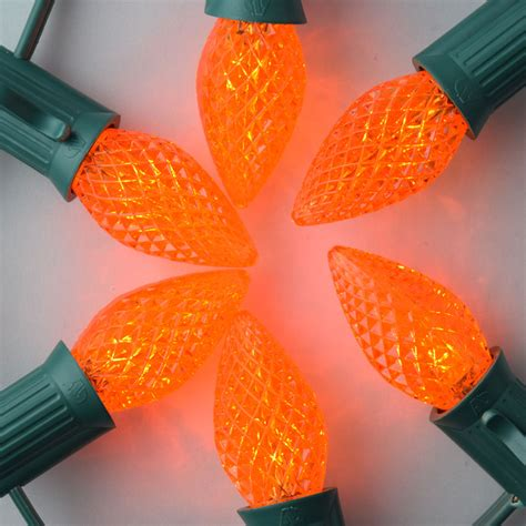 candelabra christmas lights orange 3 led c7 faceted christmas light bulbs e12