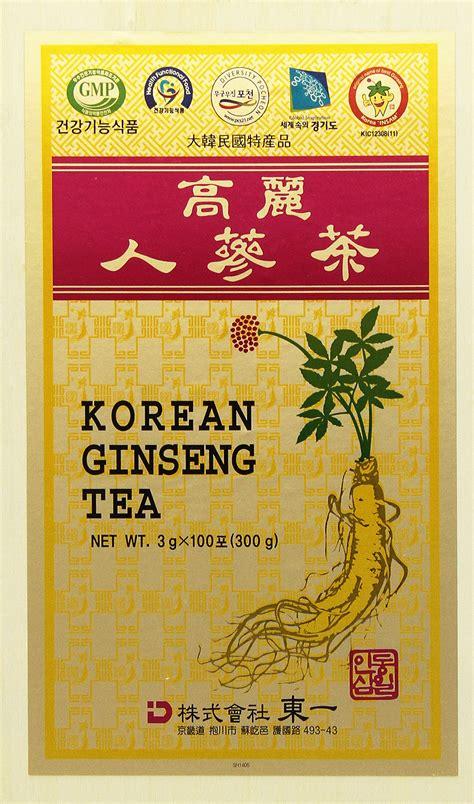 Korean Ginseng Tea prince of peace korean ginseng tea instant 0 07 oz x 10 bags x 10 boxes herbal