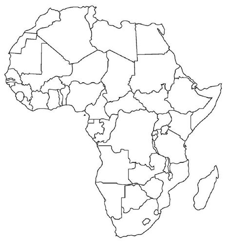 africa map template related keywords suggestions for line drawing africa