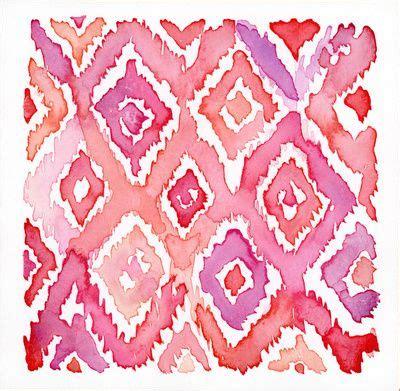 watercolor ikat pattern watercolor ikat pattern art print by jackalope heart