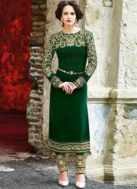 flawless green velvet designer suit