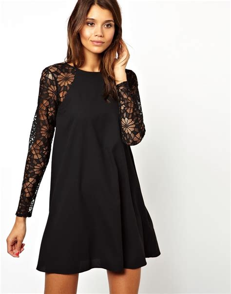 swing dress with lace sleeves six of the best lace dresses emma louise layla