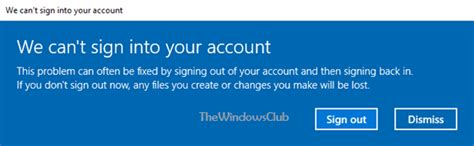 your boat club login we can t sign into your account message in windows 10