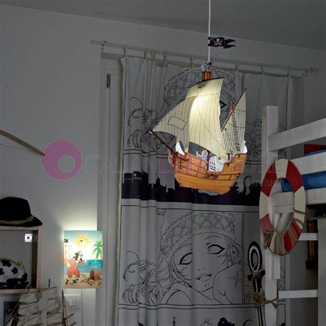 applique bambini applique luce cameretta bambino pirati capitan uncino