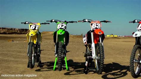 motocross action 250f motocross action s 2013 250f shootout youtube