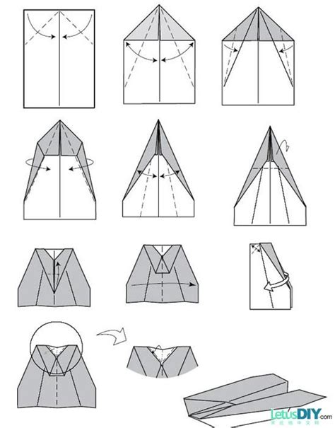 Different Ways To Make Paper Airplanes - 12 ways to fold paper plane letusdiy org diy