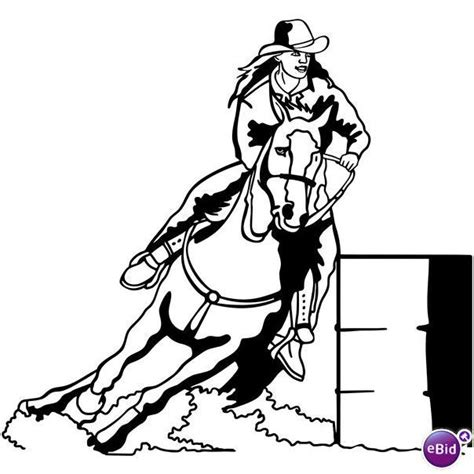 coloring pages of horses barrel racing barrel racing horse coloring pages