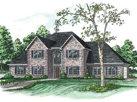 yellowgrass georgian style home plan 092d 0230 house