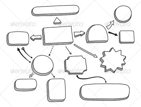 sketch flowchart flowchart vector illustration by bloomicon graphicriver