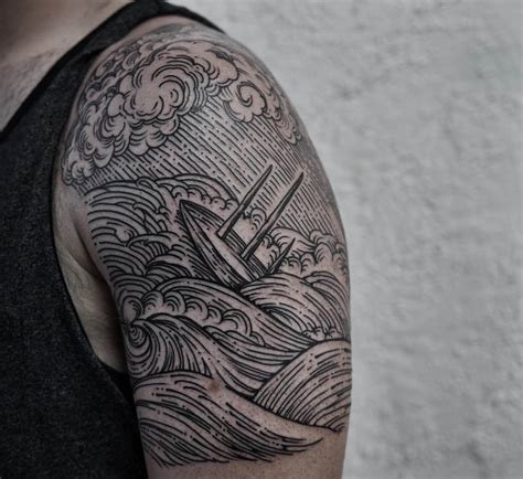 25 wave tattoo designs ideas design trends premium