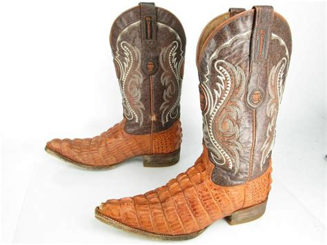 crocodile boots for sale s el general mexico rust brown leather faux