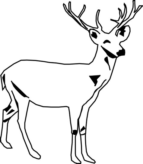 Deer Black And White Clipart deer white clip at clker vector clip royalty free domain