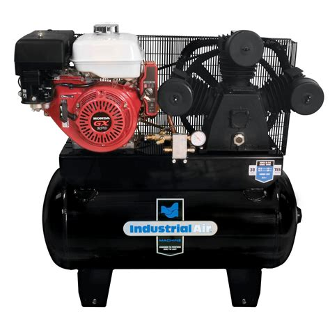 industrial air iha9093080 es 30 gallon gas powered truck mount air compressor with