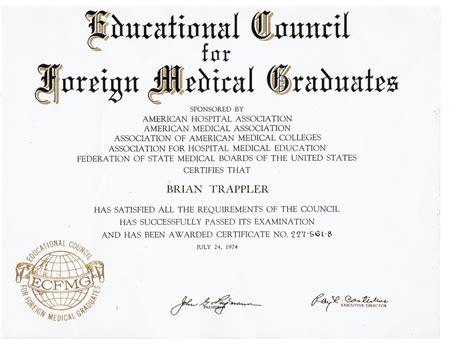 Record Of Certificates Graduation Certificates 171 Briantrappler M D General Psychiatry Traumatic Stress