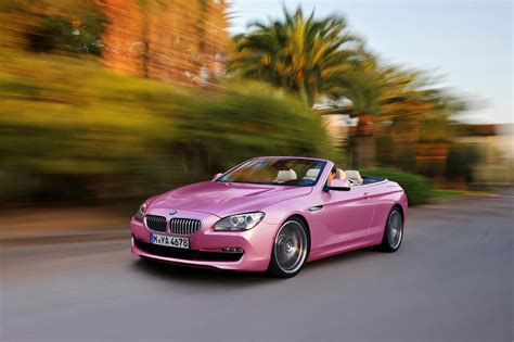 bmw beamer convertible pink bmw 6 series convertible