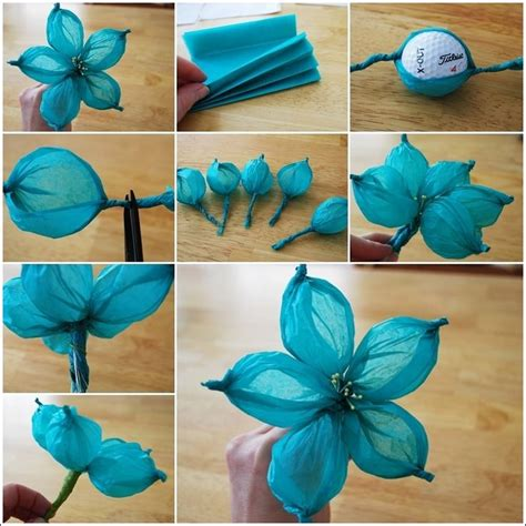 How We Make Paper Flower - 25 best ideas about tissue paper flowers on