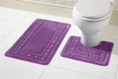 Miami Rubber Upholstery by Miami Bath Mat Set 2 Non Slip Rubber Pedestal Mat