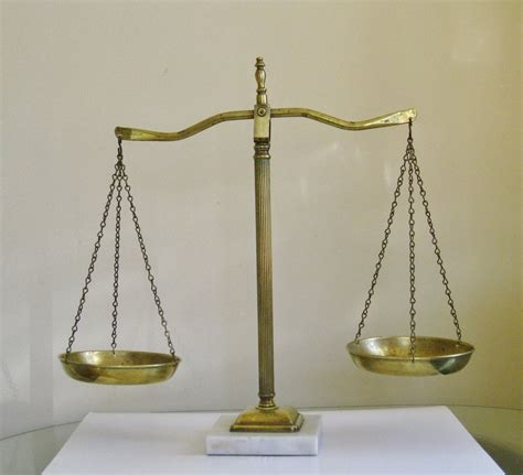 Vintage Scales of Justice Marble and Brass Traditional Lawyer Law Scale Of Justice