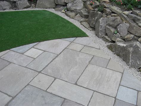 Indian Sandstone Patio Slabs by Tumbled Raj Green Indian Patio Indian Sandstone In