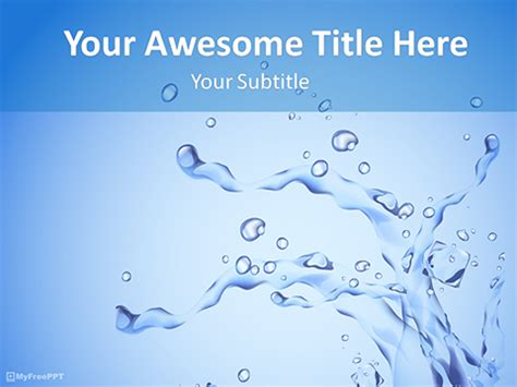 powerpoint themes water free download water ppt template free water themed powerpoint template