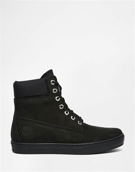 timberland newmarket cupsole boots in black for lyst