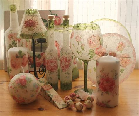 Decoupage Tissue Paper Glass - decoupage glass proyectos que intentar