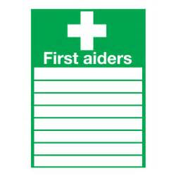 Large Square Folding Table First Aiders Sign Ese Direct