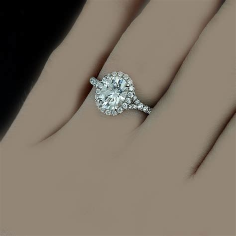 Oval Cut 18k Gold 4.96 Carat Diamond Engagement Ring GIA
