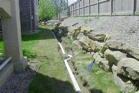 backyard drainage design french drain design curtain drain designs french drains