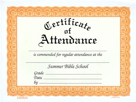 best photos of blank certificates of attendance free