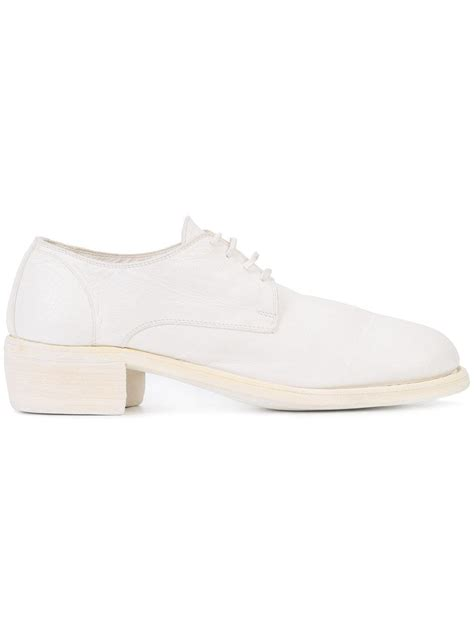 Chunky Heel Lace Up Shoes guidi chunky heel lace up shoes in white lyst
