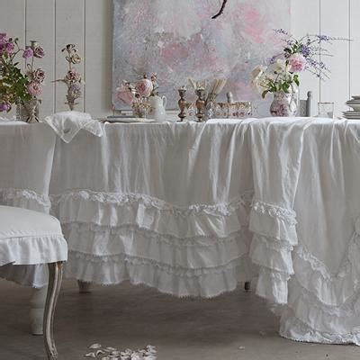 rachel ashwell shabby chic couture white petticoat tablecloth