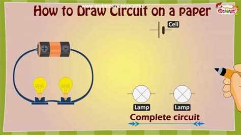 how to draw an electric circuit diagram for